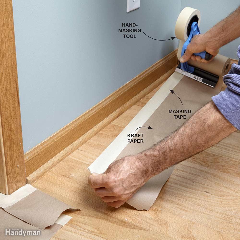 Bào vệ sàn khi sơn tường