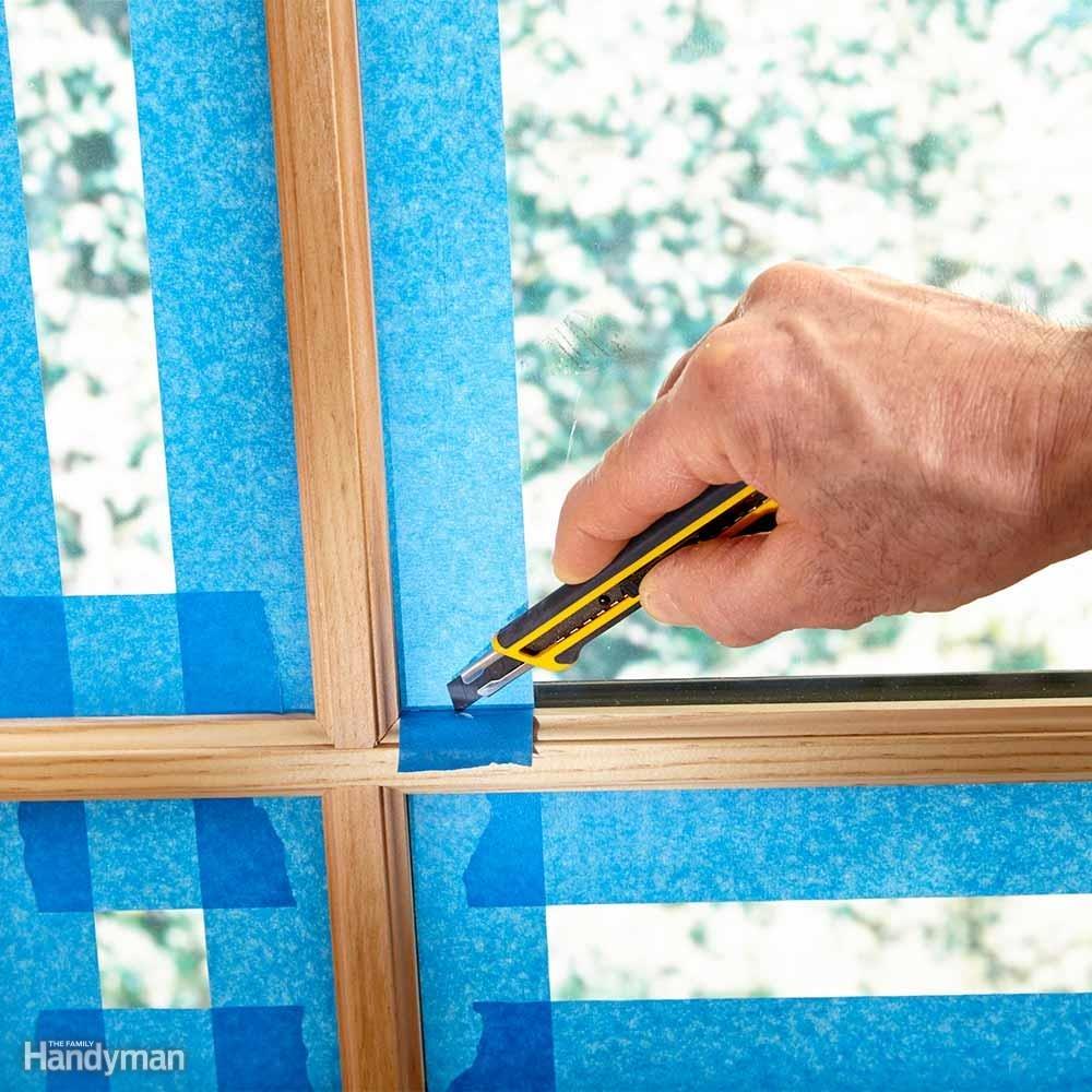bảo vệ khi sơn cửa sổ